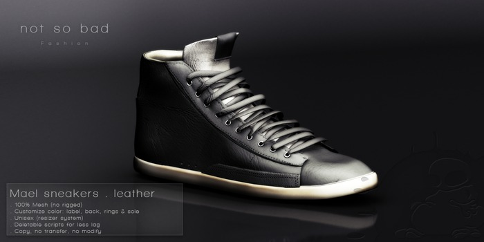 not so bad . MAEL sneakers . leather smokey