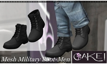 [>CaKe!!<]] Mesh Military Boot  Mens -Black