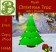 No Alpha Clash Mesh Christmas Tree (#1) w/ 3 Presents with Ribbons & Bows - ONE PRIM