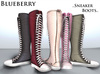 Blueberry knee high sneaker boots