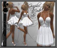 Ecarlate - Dress Mini white / Mini Robe Blanc - Class