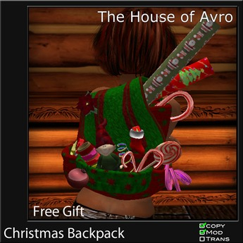 Christmas Backpack From the House of Avro