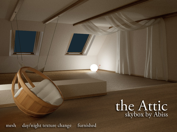 The Attic skybox by Abiss - Mesh prefab skybox day and night