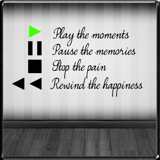 *~LT~* Play/Pause/Stop/Rewind Wall Art