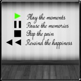 *~LT~* Play/Pause/Stop/Rewind Wall Art Decal