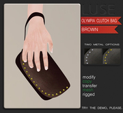 LUSE - Olympia Clutch Bag - Brown