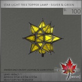 Trompe Loeil - Star Tree Topper Silver & Green [mesh]