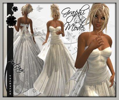 Ecarlate - Dress White Formal / Robe Blanc Long - Xeiting