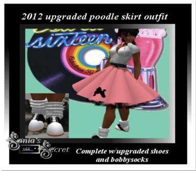 POODLE SKIRT OUTFIT (Upgraded) Complete w/shoes - PINK