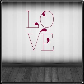 *~LT~* LOVE Wall Art Decal