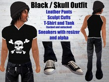 Leather pants and skull Shirt/Tank with Sneakers .:: EON ::.