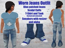Worn Blue Jeans Tshirt/Tank and Sneakers .::EON ::.