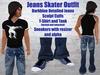 Darkblue Jeans Black Skater T-Shirt/Tank Sneakers .:: EON ::.