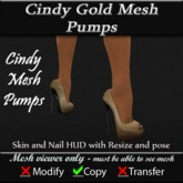 Cindy Gold Mesh Pumps v3