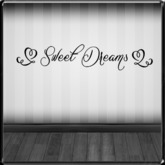 *~LT~* Sweet Dreams {Black} Wall Art Decal