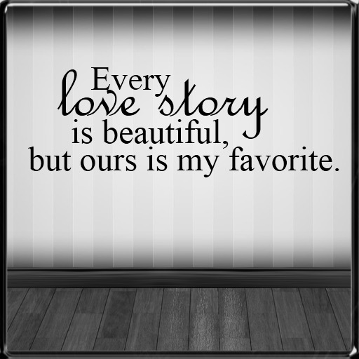 *~LT~*  Love Story Wall Art Decal