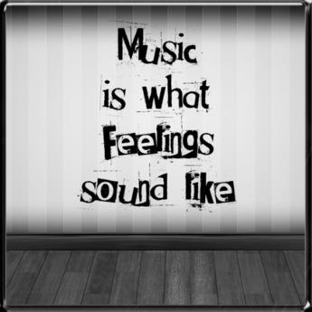 *~LT~* Music Sounds Like Wall Art Decal