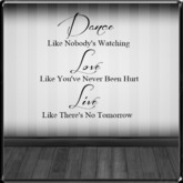 *~LT~* Dance/Love/Live Wall Art Decal