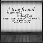 *~LT~* True Friend Wall Art Decal