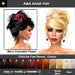A&A Anish Hair 11 Colors Value Pack. Updo with flexi curls and menu colorable flower.