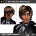 A&A Seth Hair Mixed Brown. Mens goth sexy flexi hairstyle. Special Color!