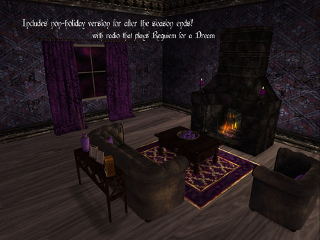Second Life Marketplace - It's a Gothic Christmas Living ...