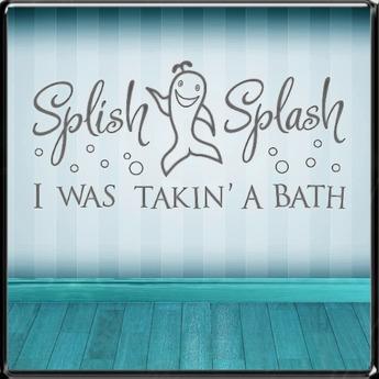 *~LT~* Splish Splash Wall Art Decal