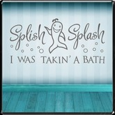 *~LT~* Splish Splash Wall Art Decal