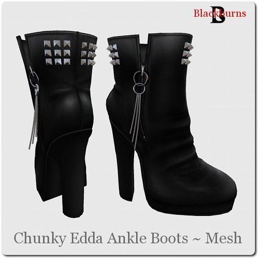 Blackburns Chunky Edda Mesh Ankle Boots