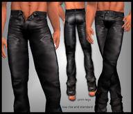 sf design stud leather jeans (NON mesh)