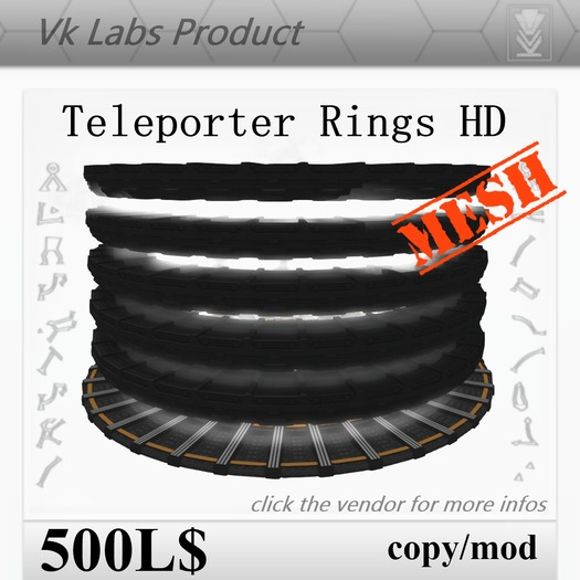 Teleporter Rings 2.0 HD [Mesh]