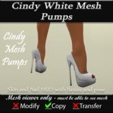 Cindy Mesh White Pumps v3