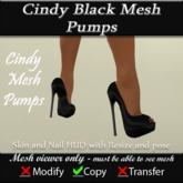 Cindy Mesh Black Pumps v3