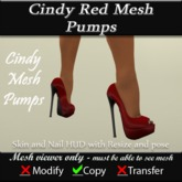 Cindy Mesh Red Pumps v3