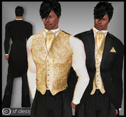 sf design morning suit - wedding day -gold