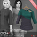 DCNY Mesh D-Line Sweater & Scarves in Haze