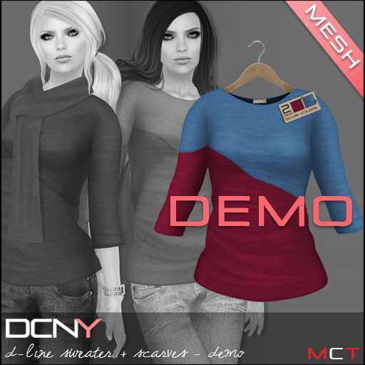 DCNY Mesh D-Line Sweater & Scarves *DEMO*