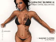 KARVED Flowing Bloom II TORSO/UPPER ARMS OPTION (Floral Tattoo) Classic/BOM Layers Only