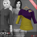 DCNY Mesh D-Line Sweater & Scarves in Royal