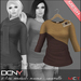 DCNY Mesh D-Line Sweater & Scarves in Caramello
