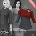 DCNY Mesh D-Line Sweater & Scarves in Ayers