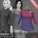 DCNY Mesh D-Line Sweater & Scarves in Candy