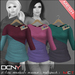 DCNY Mesh D-Line Sweater & Scarves in Multipack 1