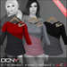 DCNY Mesh D-Line Sweater & Scarves in Multipack 2