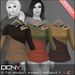 DCNY Mesh D-Line Sweater & Scarves in Multipack 4