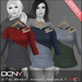DCNY Mesh D-Line Sweater & Scarves in Multipack 5