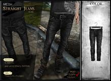 RONSEM* Straight Jeans / black2 (male)