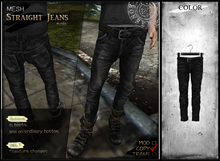 RONSEM* Straight Jeans / jetblack (male)