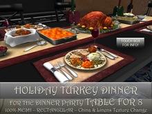 New! MESH TURKEY DINNER FOR for DINNER PARTY Table for 8