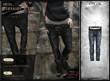 RONSEM* Straight Jeans / blue (female)**
